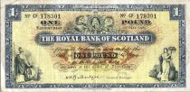 Ecosse 1 Pound - Armoirie - Banques - 01/05/1965