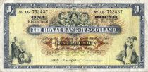 Ecosse 1 Pound - Armoirie - Banques - 01/06/1965