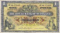 Ecosse 1 Pound 1957 - Armoiries, bâtiments - Série AN