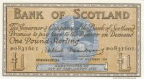 Ecosse 1 Pound 1957 - Navire - Série P