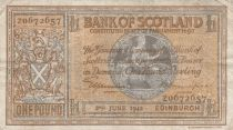Ecosse 1 Pound Bank of Scotland - 1942 - p.TTB - P.91c