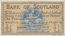 Ecosse 1 Pound Bank of Scotland - 1957 - TTB - P.100c
