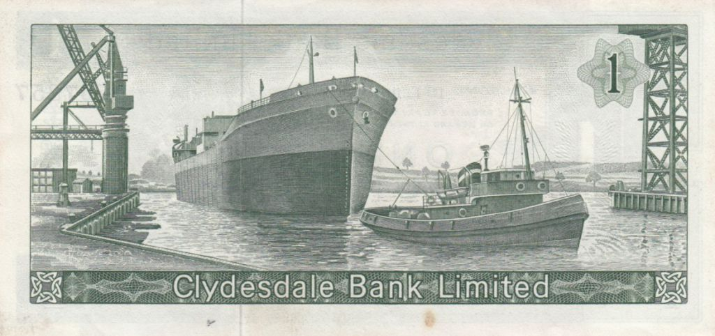 Ecosse 1 Pound Cyclade Bank Limited 1965 - P.197 - TTB