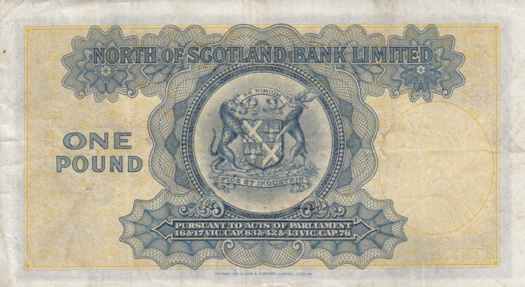 Ecosse 1 Pound North of  Scotland Bank - 1940 TTB - S.644 - C177635