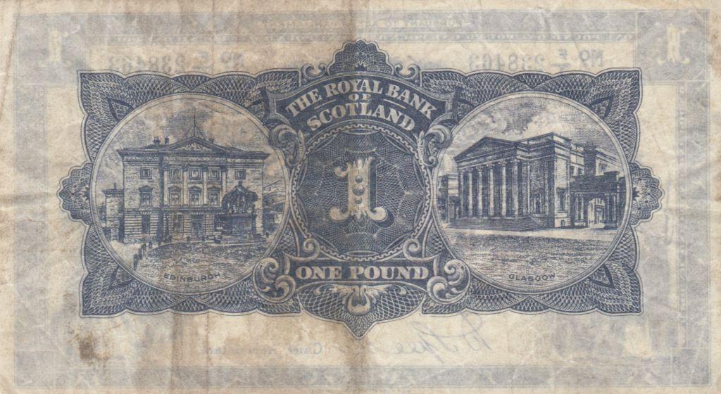 Ecosse 1 Pound Royal Bank of Scotland - 1941 - p.TTB - P.332a