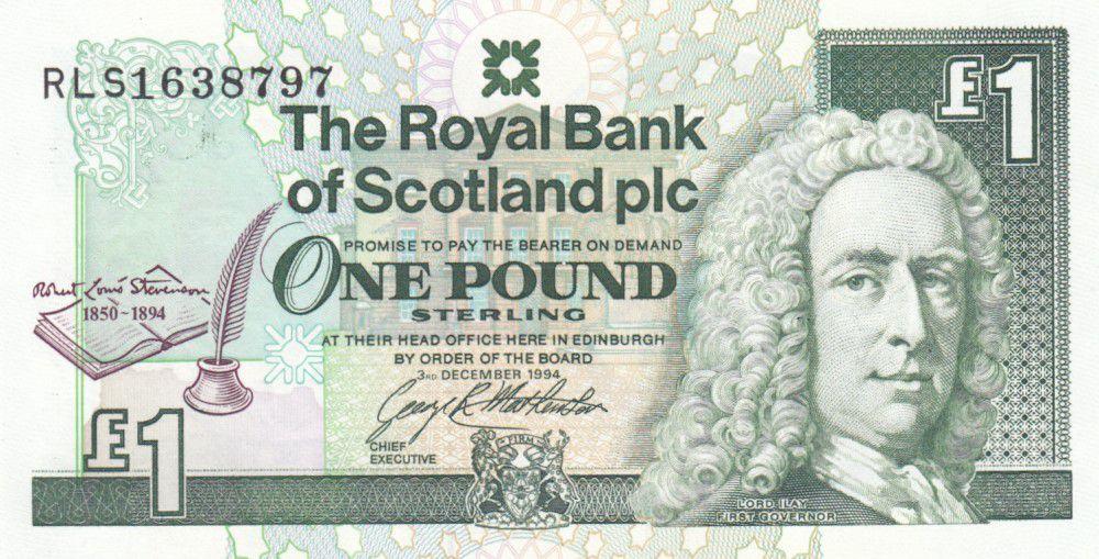 Ecosse 1 Pound Royal Bank of Scotland - RL Stevenson - 1994 - Neuf - P.358
