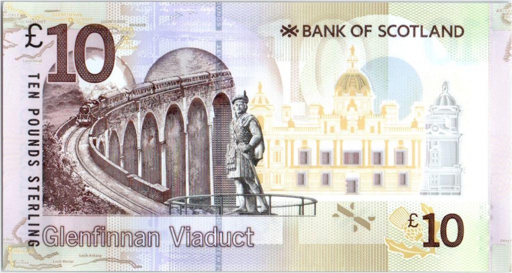 Ecosse 10 Pounds Sir Walter Scott - Viaduc - Polymer - 2016