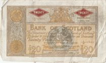 Ecosse 20 Pounds Bank of Scotland - 1952 - p.TB - P.94c