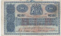 Ecosse 20 Pounds British Linen Bank - 23-01-1945 - TB - P.159a
