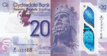 Ecosse 20 Pounds Robert The Bruce - Clydesdale Bank - Polymer 2019 (2020) - Neuf