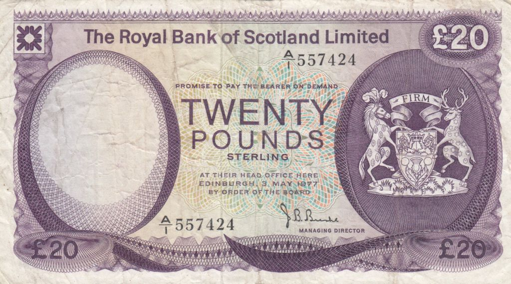 Ecosse 20 Pounds Royal Bank of Scotland - 1779 - P.TTB - P.339