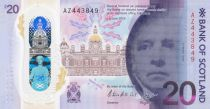 Ecosse 20 Pounds Sir Walter Scott - Bank of Scotland - Polymer - 2019 (2020)  - Neuf