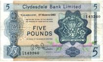 Ecosse 5 Pounds 1965 - Armoiries, Eglise
