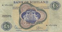 Ecosse 5 Pounds Bank of Scotland - 1968 - P.TTB - P.110a