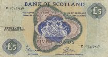 Ecosse 5 Pounds Bank of Scotland - 1969 - P.TTB - P.110b