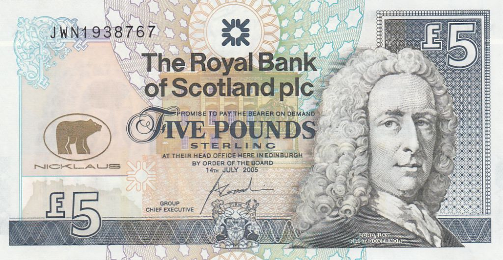 Ecosse 5 Pounds Lord Ilay - Jack Nicklaus Golfeur - 2005