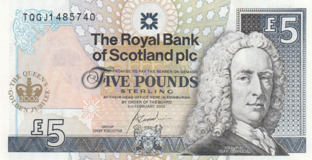 Ecosse 5 Pounds Royal Bank of Scotland - Elisabeth II Golden  Jubilee - Neuf - P.362