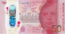 Ecosse 50 Pounds Sir Walter Scott - Bank of Scotland - Polymer - 2020 (2021)  - Neuf
