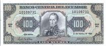 Ecuador 100 Sucres  Simon Bolivar - 1994