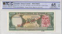 Ecuador 1000 Sucres  Ruminahui  - 1976  - PCGS 65 OPQ