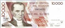 Ecuador 10000 Sucres V. Rocafuerte - Independence monument - 1999