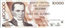 Ecuador 10000 Sucres V. Rocafuerte - Monument Indépendance - 1998 - P.127 c