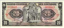 Ecuador 20 Sucres  - Church, arms - 1988
