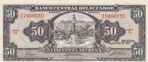 Ecuador 50 Sucres 1982 - Monument, coat of arms
