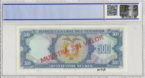 Ecuador 500 Sucres Eugenio de Santa Cruz  - 1976  - PCGS 66 OPQ