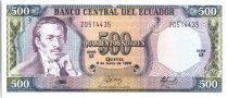 Ecuador 500 Sucres Eugenio de Santa Cruz y Espejo - Arms - 1988
