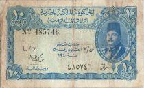 Egypte 10 Piastres 1940 Roi Farouk