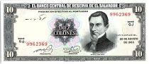 El Salvador 10 Colones, Manuel José Arce - C.Colomb - 1983