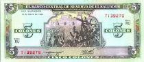 El Salvador 5 Colones Delgado - C. Colomb - 1990