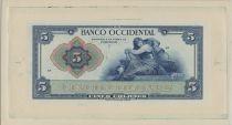 El Salvador 5 Pesos Mercure assis
