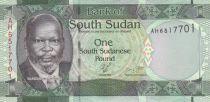 El sur Sudán 1 Pound Dr John Garang de Mabior - Giraffes - 2011