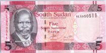 El sur Sudán New1.2015 5 Pounds, Dr John Garang de Mabior - Cows - 2015
