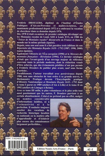 Encyclopédie Pratique d?Histoire Numismatique et Monétaire 1610-1792 PROMO