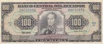 Equateur 100 Sucres 1974 - Simon Bolivar, armoiries