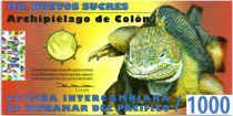 Equateur 1000 Sucres, Charles Darwin - Lézard 2011
