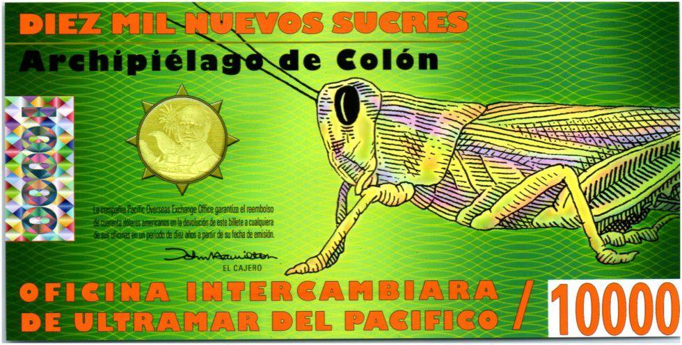 Equateur 10000 Sucres, Darwin - Dauphins - Criquet 2011
