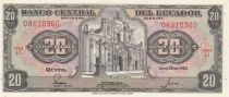 Equateur 20 Sucres 1983 - Eglise, armoiries