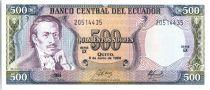Equateur 500 Sucres Eugenio de Santa Cruz y Espejo - Armoiries - 1988