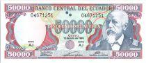 Equateur 50000 Sucres Eloy Alfaro - Armoiries - 1999