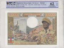 Equatorial African States 10000 Francs Bokassa - 1968 Specimen - PCGS 62 OPQ