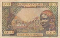 Equatorial African States 500 Francs 1963 - Central African Rep. - P.4f