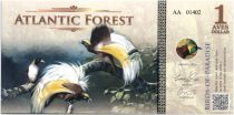 Equatorial Territories 1 Aves Dollar, Atlantic Forest - Birds of Paradise - 2015