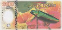 Equatorial Territories 2000 Aves Dollars, Atlantic Forest - Jewel beetle - 2016