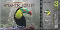Equatorial Territories 3 Aves Dollars, Atlantic Forest - Toucan - 2015