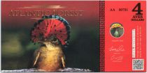 Equatorial Territories 4 Aves Dollars, Atlantic Forest - Royal Flycatcher - 2015