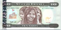 Eritrea 10 Nakfa - Three girls - Bridge - 1997